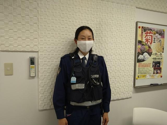 雄物川駐在所の鈴木紅美巡査長にインタビュー♪